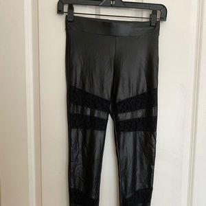 Bebe leather leggings